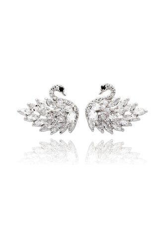 temperament compact crystal earrings