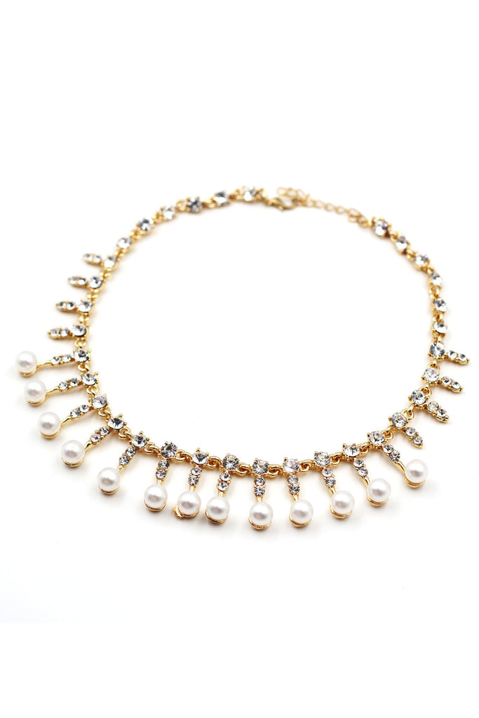 temperament crystal pearl two piece set