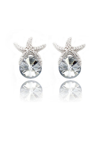 simple swarovski crystal earrings