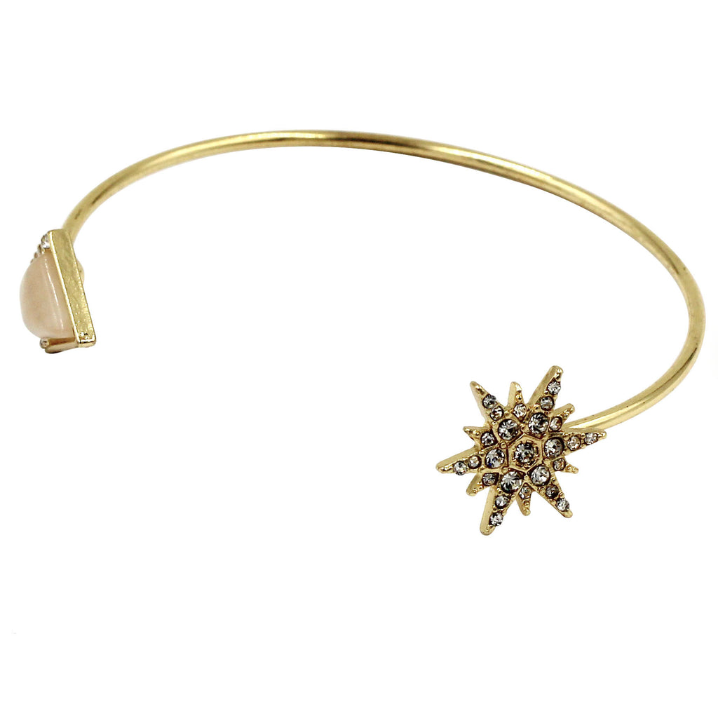 fashion inlaid crystal golden bracelet