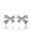 cute crystal bow earrings
