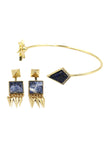 fashion inlaid golden bracelet set
