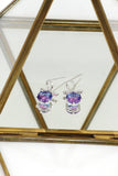 beautiful colorful crystal earrings