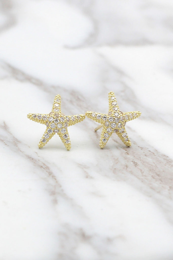 fashion star crystal earrings