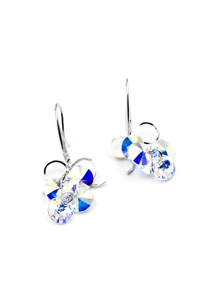 Lovely Silver shiny Crystal Earrings