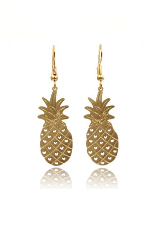 Gold Pendants Crystal Earrings