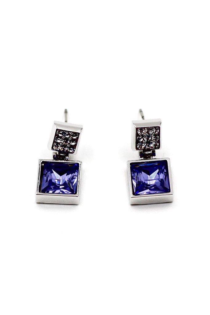 Noble purple shiny Crystal Earrings