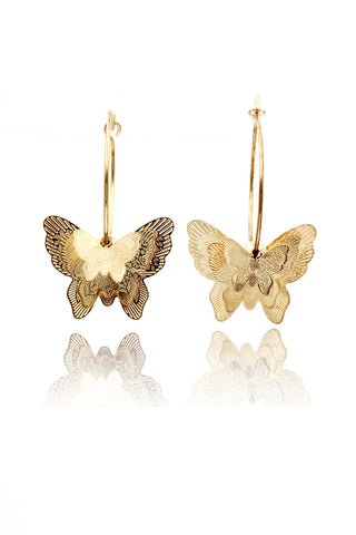 fashion big butterfly earrings