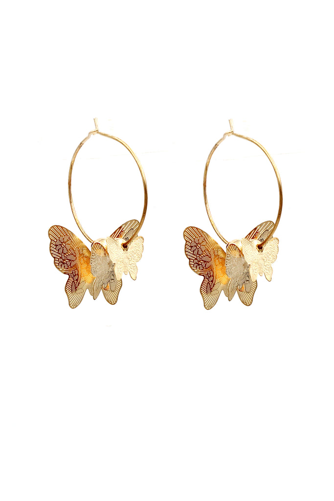 elegant butterfly earrings