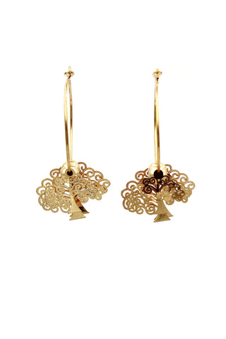 lovely butterfly pendant bead earrings