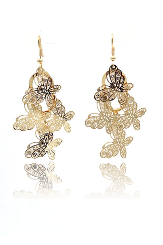 temperament crystal swan earrings