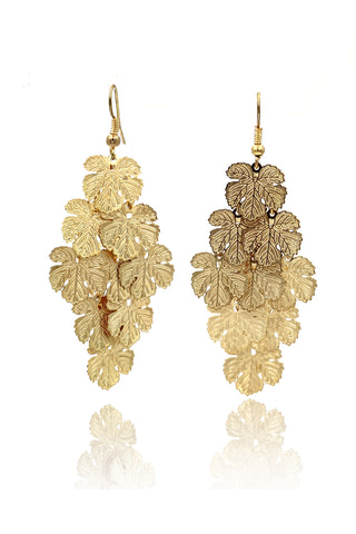 noble pendant black tassel crystal flower earrings