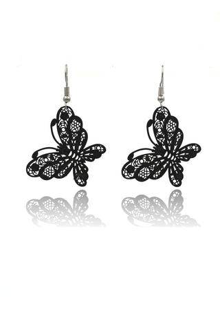 pretty flower fairy crystal silver earring