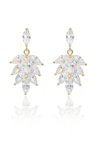small crystal fine chain earrings