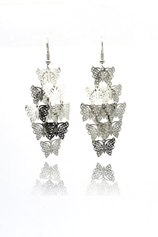 single crystal cube earrings