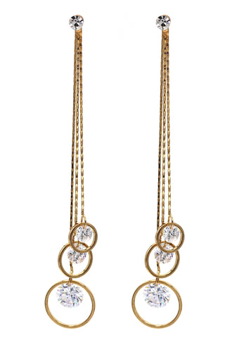 fashion pendant crystal snow long earrings