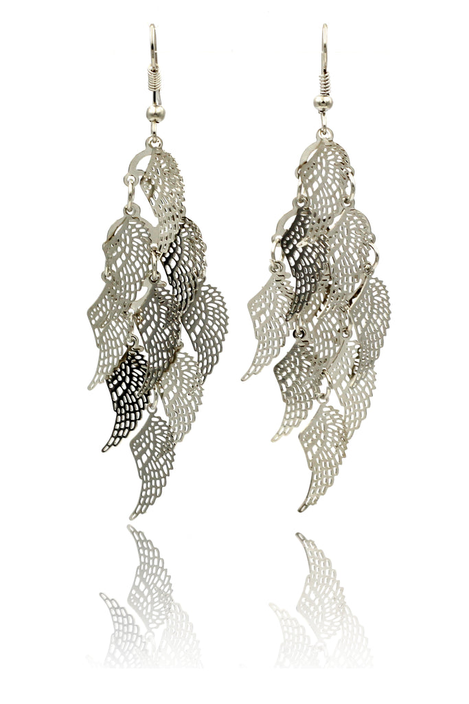 long small wing earrings