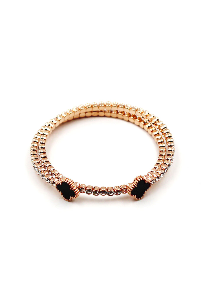 Noble gold fashion crystal bracelet