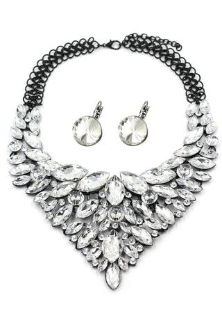 elegant crystal necklace