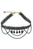 fashion lace drop pendant choker