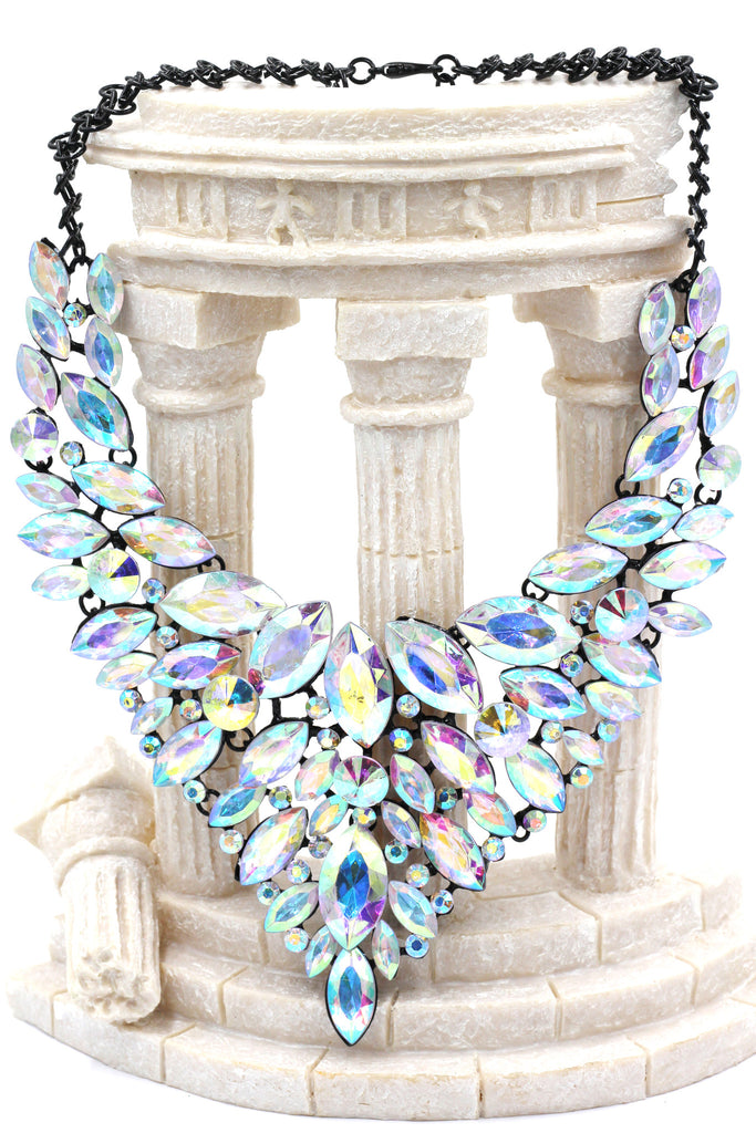 fashion colorful crystal necklace