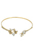 fashion crystal butterfly golden bracelet