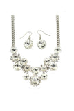 fashion circle crystal necklace earrings sets