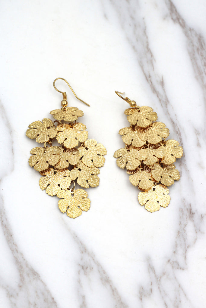 long small maple earrings
