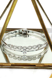 disposition wave circle crystal bracelet
