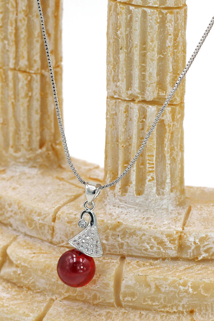 fashion wizard hat crystal silver necklace