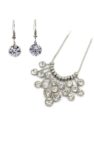 Elegant bowknot crystal earrings