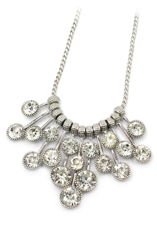 fashion circle flower crystal  necklace earrings sets