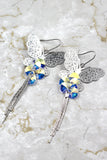 butterfly fringe swarovski crystal earrings
