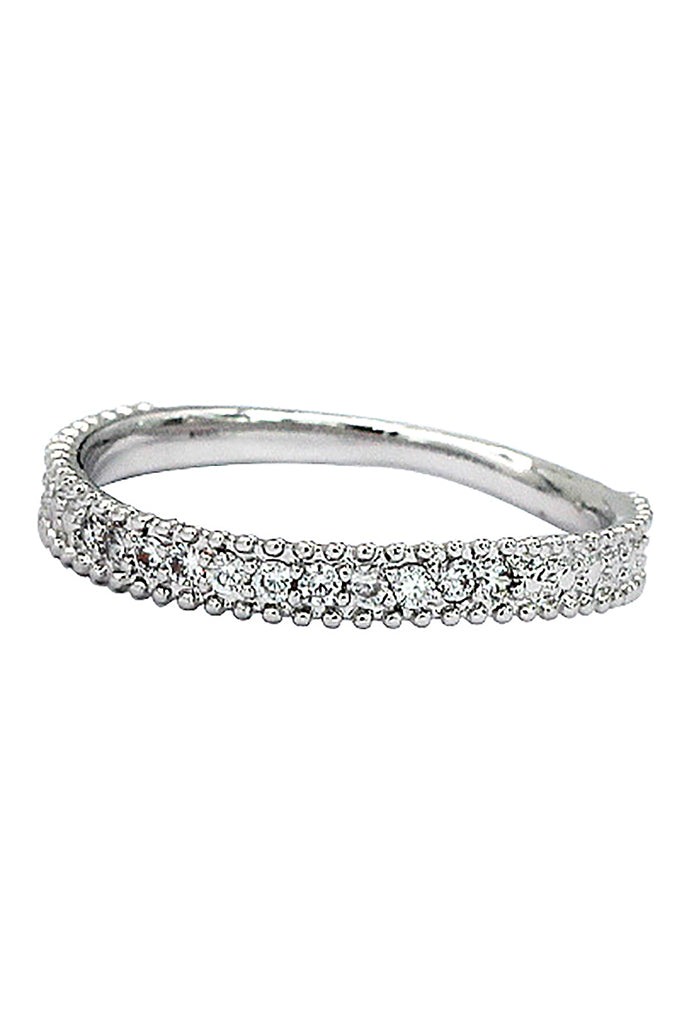 fashion small crystal silver ring