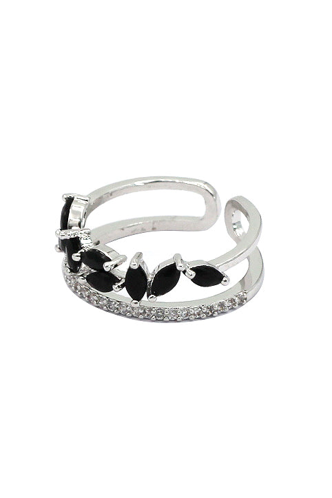 fashion crystal grain ring