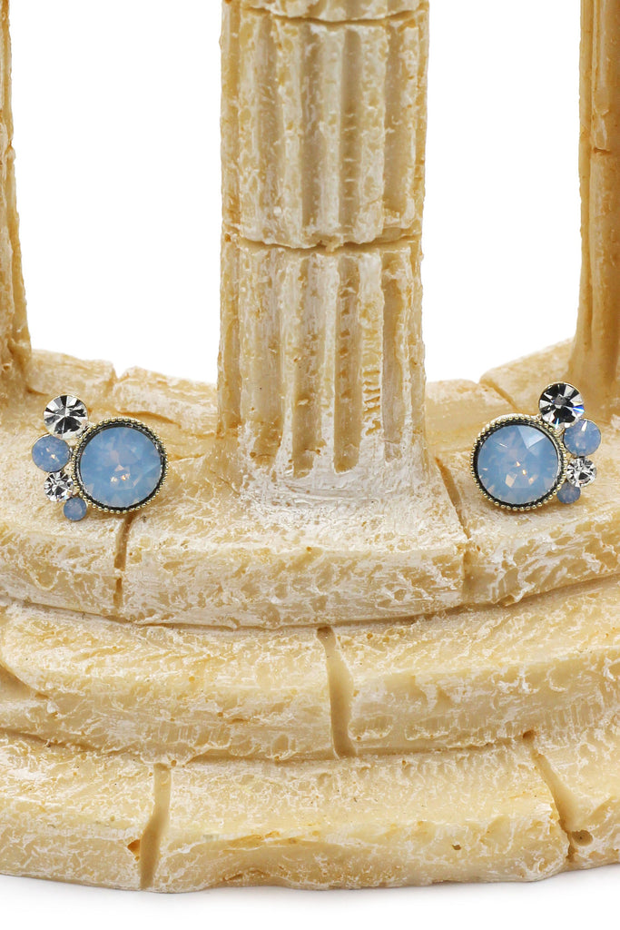 lovely crystal little feet earrings
