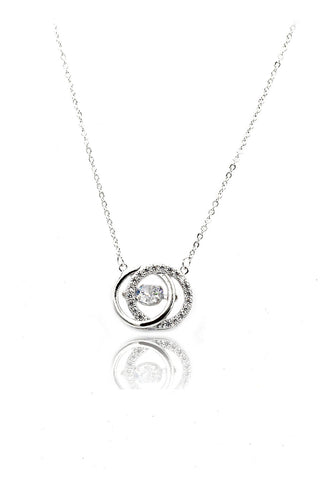 temperamengirl crystal clavicle silver necklace