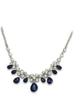 noble blue garnet crystal necklace