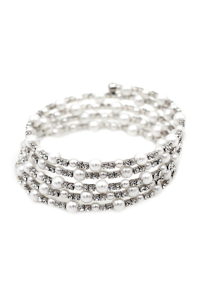 fashion crystal pearl bracelet