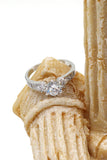 lovely crystal silver ring