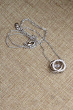 double circle clavicle crystal necklace