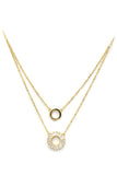 duplexes crystal circle necklace
