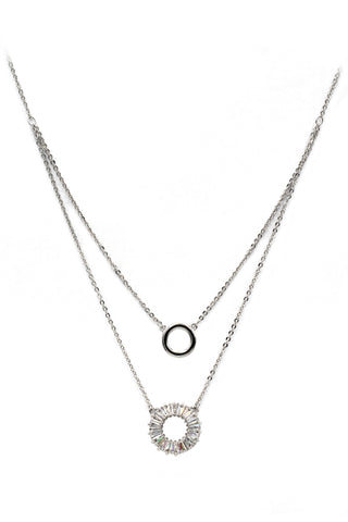 fashion mini X front crystal necklace