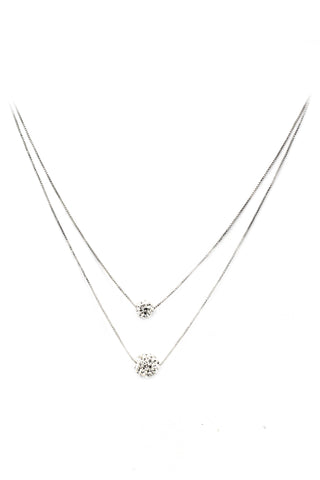 elegant crystal mini circle clavicle necklace
