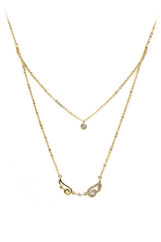 fashion pendant crystal knot necklace