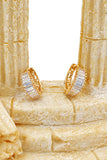 fashion square open diamond earrings