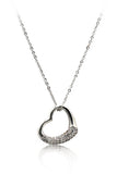 cabinet micro crystal heart necklace