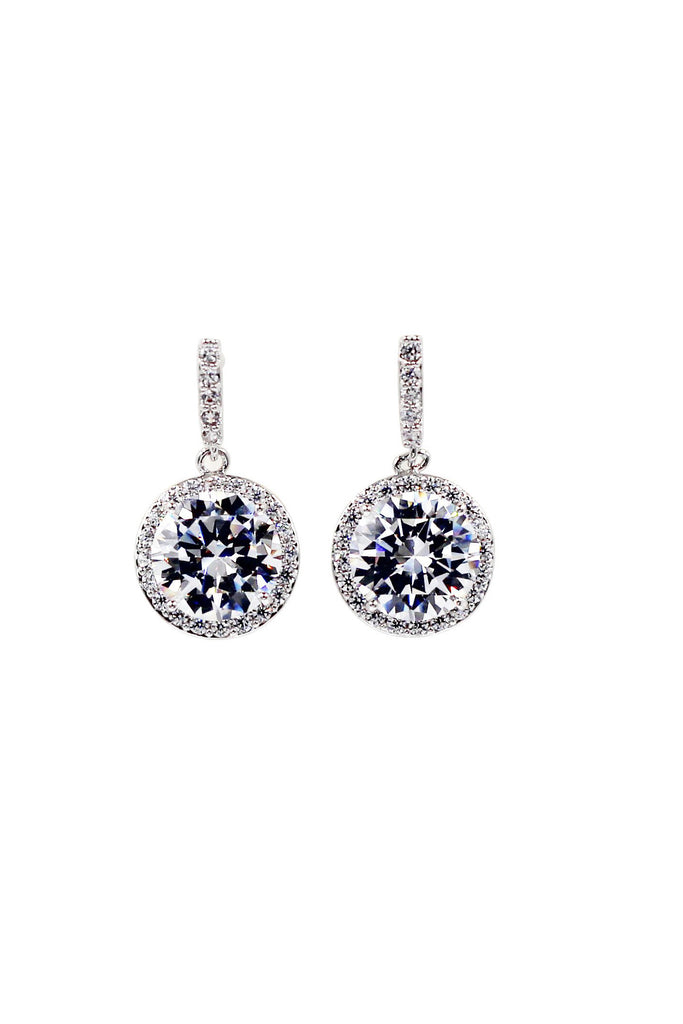 shiny crystal necklace earrings set
