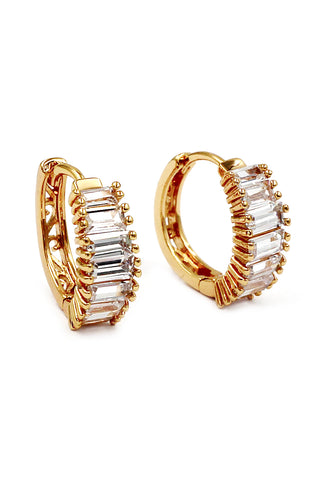 fashion crystal double wire earrings