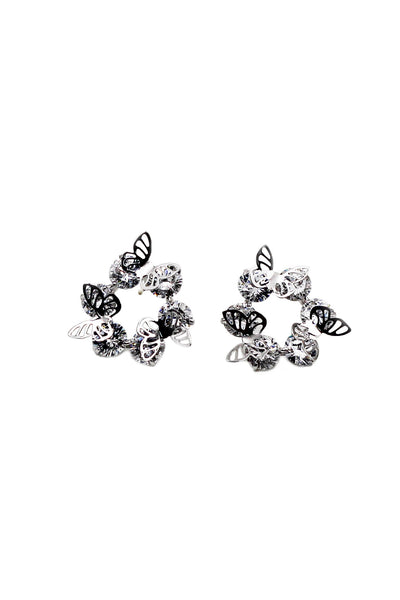Elegant crystal butterfly earrings